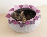 Vilten kattenmand Lotus - Paars_