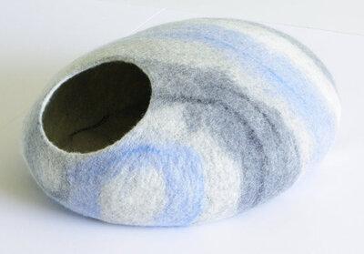 Vilten kattenmand Lichtblauw