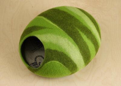 Vilten kattenmand Groen