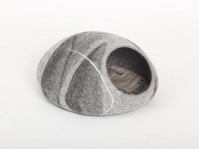 Vilten kattenmand Grijs