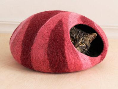 Vilten kattenmand Roze