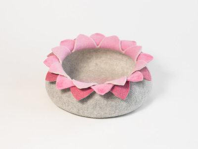 Vilten kattenmand Lotus - Roze