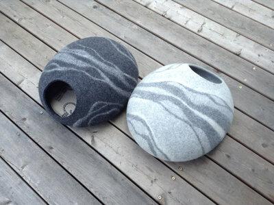 Vilten kattenmand Marmer - 2 soorten