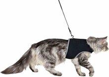 Trixie kattentuig soft met riem zwart