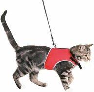 Trixie kattentuig soft met riem rood