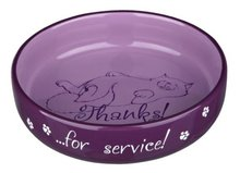 Voerbak 'thanks for service' - lilac